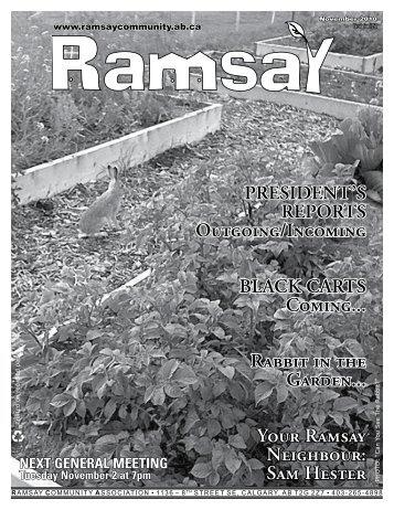 November 2010 - Ramsay Community Association in Calgary