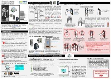 KURZANLEITUNG Sicherheitscode Werkseinstellung - E-key