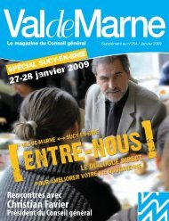 Le supplément ValdeMarne spécial Sucy-en-Brie - Conseil général ...