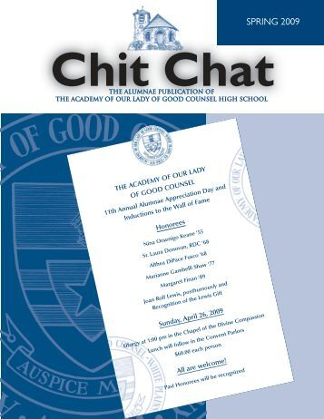 SPRING 2009 Chit Chat - Academy of Our Lady of Good Counsel ...