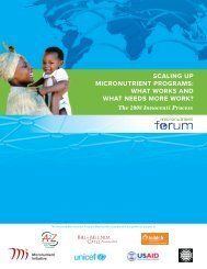 Scaling Up Micronutrient Programs: What Works and ... - GiveWell