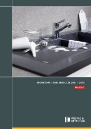 WORKTOPS [ SINK MODULES 2011 – 2013 - Decorative Products