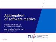 Aggregation of software metrics