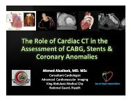 The Role of Cardiac CT in the Assessment - Sha-conferences.com