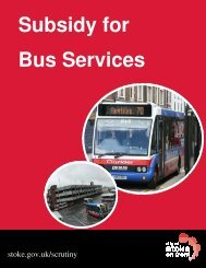 Subsidised Bus Services Subsidy for Bus Services - Centre for ...