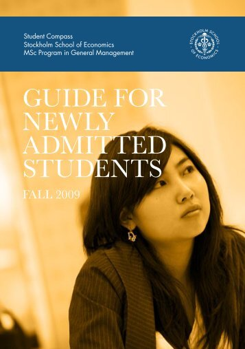 GUIDE FOR NEWLY ADMITTED STUDENTS