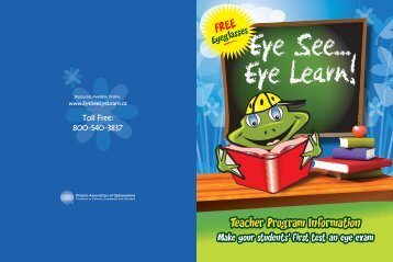 Eye See Eye Learn Program documents (pdf) - Hamilton-Wentworth ...