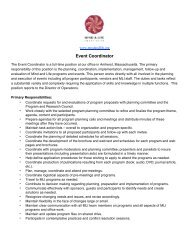 Event Coordinator Description 1.30.12 - Mind & Life Institute