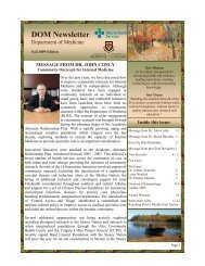 DOM Newsletter - Department of Medicine