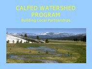 CALFED WATERSHED PROGRAM - Sacramento River Watershed ...