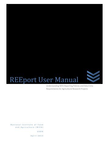 REEport User Manual - National Institute of Food and Agriculture