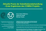 Aktuelle Praxis der Substitutionsbehandlung ... - PREMOS-Studie