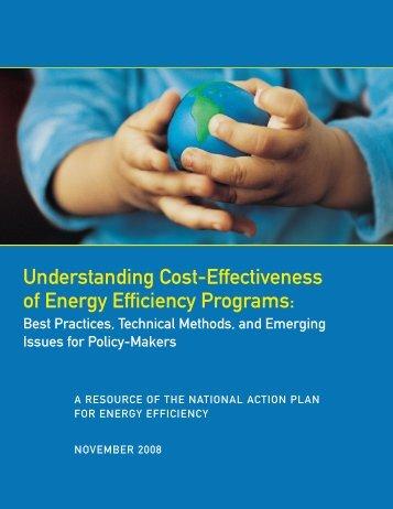 Understanding Cost-Effectiveness of Energy Efficiency Programs ...