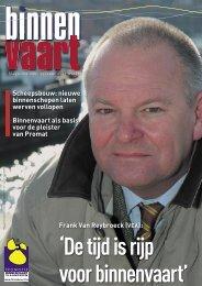 Frank Van Reybroeck (VEA) - Promotie Binnenvaart Vlaanderen