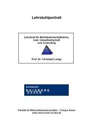 Lehrstuhlportrait - UWCON - Universität Duisburg-Essen