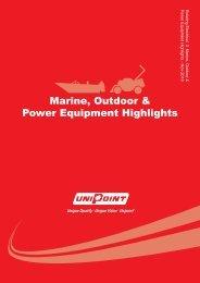 Marine, Outdoor & Power Equipment Highlights - Unipoint