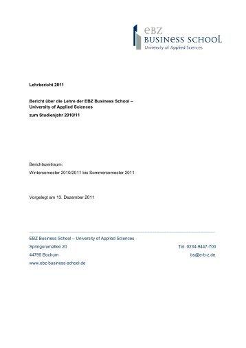 Lehrbericht 2011 - EBZ Business School