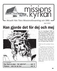 Missionskyrkan Nr. 8 2002 - Missionskyrkan Tibro