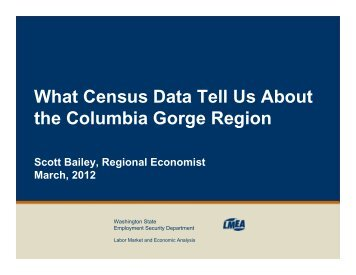 What Census Data Can Tell Us About the Gorge Region - mcedd