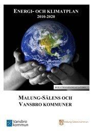 Energi- och klimatplan 2010-2020 - Vansbro kommun