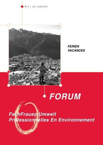 Nummer 2/2011 - FachFrauen Umwelt
