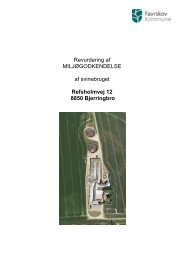 Revurdering af § 5 godkendelse af husdyrbrug på Refsholmvej 12 ...