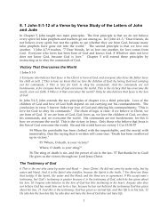 8. 1 John 5:1-12 of a Verse by Verse Study of the ... - Gospel Lessons