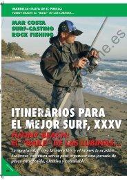 itinerarios para el mejor surf, xxxv itinerarios para el mejor surf, xxxv