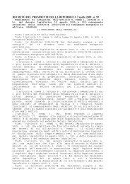 Decreto del Presidente della Repubblica 2 aprile 2009 ... - Federcasa