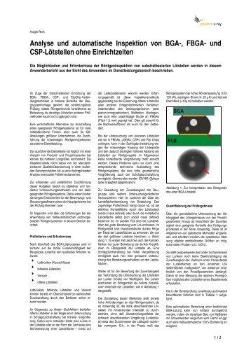 Analyse und automatische Inspektion von BGA-, FBGA - Phoenix|x-ray