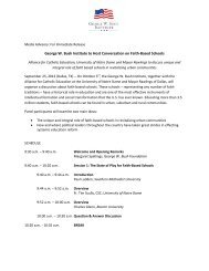 George W. Bush Institute to Host Conversation on Faith-Based ...