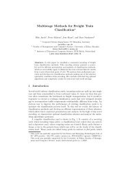 Multistage Methods for Freight Train Classification*