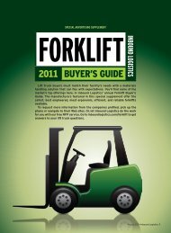 Inbound Logistics | 2011 Forklift Buyer's Guide