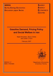 Gasoline Demand, Pricing Policy and Social Welfare in Iran