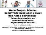 Prof. Dr. med. Annette Streeck-Fischer - Kammer für Psychologische ...