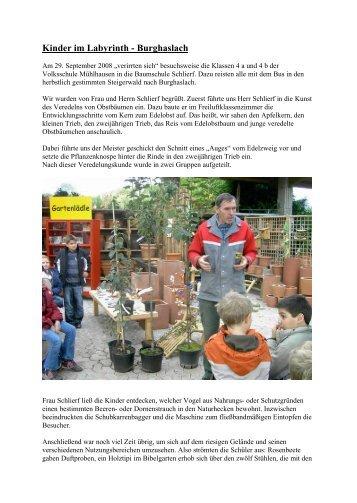 Kinder im Labyrinth - Burghaslach