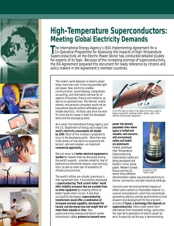 HST Fact Sheet_8.cdr - High-Temperature Superconductivity
