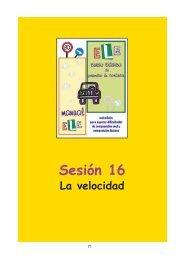 Sesión 16 La velocidad - Catedu