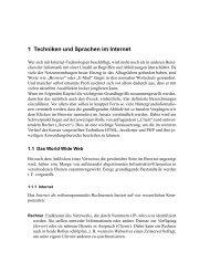 1 Techniken und Sprachen im Internet