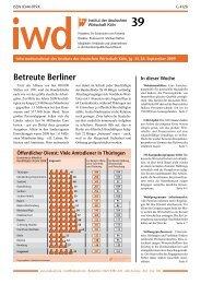 Betreute Berliner - Institut der deutschen Wirtschaft