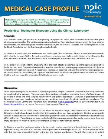 laboratory testing for exposure to pesticides - National Pesticide ...
