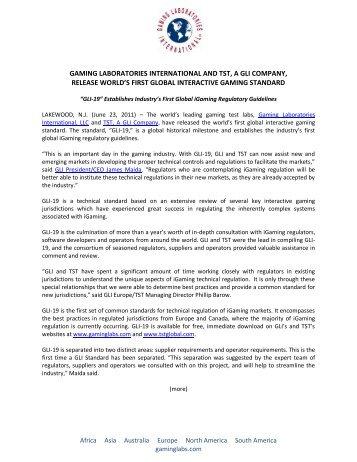 gaming laboratories international and tst, a gli company, release ...