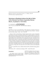 Inheritance of Radiation Induced Sterility in Males of the Oriental ...
