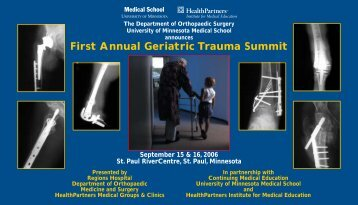 Geriatric Trauma Summit - University of Minnesota Continuing ...
