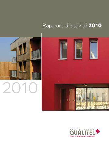 Rapport d'activité 2010 - Qualitel