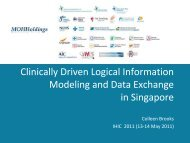 Clinically Driven Logical Information Modeling and Data ... - HL7