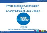 2. Hydrodynamic Optimization for Energy Efficient Ship Design