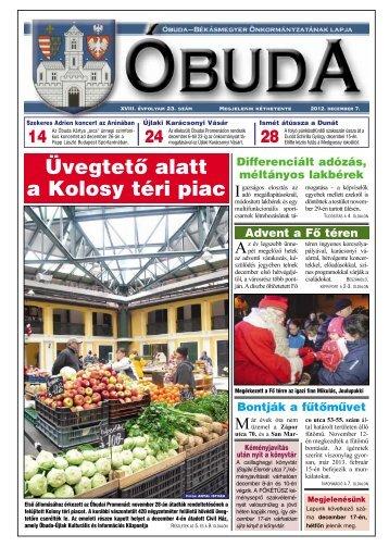 Üvegtetõ alatt a Kolosy téri piac - Óbuda-Békásmegyer