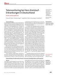 Herz Telemonitoring bei Herz-Kreislauf- Erkrankungen in ... - Springer