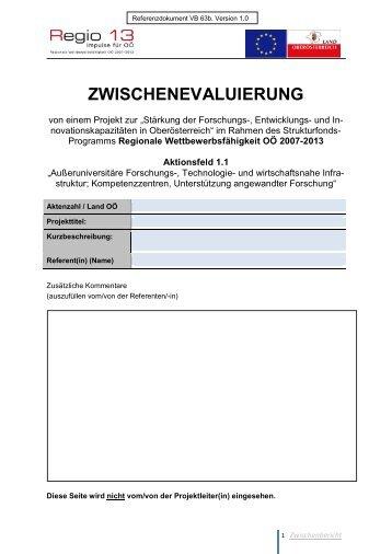 ZWISCHENEVALUIERUNG - Regio 13